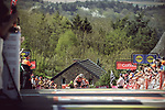 Race favourite Anna Van Der Breggen (NED) Boels Dolmans Cycling Team summits the Mur de Huy to win for the 4th consecutive time La Fleche Wallonne Femmes 2018 running 118.5km from Huy to Huy, Belgium. 18/04/2018.<br /> Picture: ASO/Thomas Maheux | Cyclefile.<br /> <br /> All photos usage must carry mandatory copyright credit (© Cyclefile | ASO/Thomas Maheux)