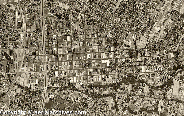 aerial photograph Santa Rosa, Sonoma County, California 1952