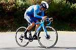 Movistar Team rider climbs during Stage 13 of the Vuelta Espana 2020 an individual time trial running 33.7km from Muros to Mirador de Ézaro. Dumbría, Spain. 3rd November 2020. <br /> Picture: Luis Angel Gomez/PhotoSportGomez | Cyclefile<br /> <br /> All photos usage must carry mandatory copyright credit (© Cyclefile | Luis Angel Gomez/PhotoSportGomez)