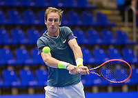 Rotterdam,Netherlands, December 15, 2015,  Topsport Centrum, Lotto NK Tennis, Mark de Jong (NED)<br /> Photo: Tennisimages/Henk Koster