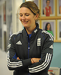 England Womans Captain Charlotte Edwards ..Cowbridge Comprehensive School Girls Cricket Club with England Womans Captain Charlotte Edwards and Heather Knight - 16th April 2013 - Cricket Wales -  Cowbridge - Vale of Glamorgan..© www.sportingwales.com- PLEASE CREDIT IAN COOK