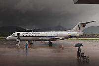 Aéroport de Lunag Prabang Laos, avant l'orage.