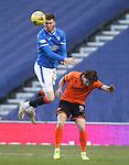 21.02.2021 Rangers v Dundee Utd: Jack Simpson and Marc McNulty