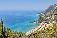 Glyfada beach at Corfu, Greece