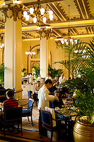 The Good Life in Hong Kong Kowloon side with elegant high tea at one of the best hotels in the world The Peninsula and the people having delightful lunch and tea at this Expensive Hotel and lif