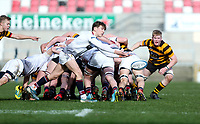 Tuesday 3rd March 2020 | RSA vs RBAI<br /> <br /> Charlie Worth during the Ulster Schools' Cup Semi-Final between Royal School Armagh and RBAI at Kingspan Stadium, Ravenhill Park, Belfast, Northern Ireland. Photo by John Dickson / DICKSONDIGITAL