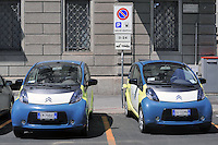 - recharge station for electric cars in Milan, Citroen of a car sharing company<br />