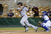 Peoria Javelinas outfielder Stefan Romero (7), of the Seattle Mariners organization, during an Arizona Fall League game against the Glendale Desert Dogs on October 14, 2013 at Camelback Ranch Stadium in Glendale, Arizona.  Glendale defeated Peoria 5-1.  (Mike Janes/Four Seam Images)