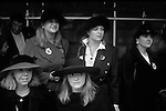 Sloane Rangers watch the Lord Mayors of London Show, London England.   1990.