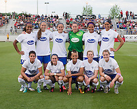 The Boston Breakers line up before the game at the Maryland SoccerPlex in Boyds, MD.  Washington tied Boston, 1-1.