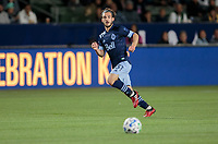 CARSON, CA - MARCH 07: Russell Teibert #31 of the Vancouver Whitecaps moves to the ball during a game between Vancouver Whitecaps and Los Angeles Galaxy at Dignity Health Sports Park on March 07, 2020 in Carson, California.
