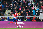 Antoine Griezmann of Atletico de Madrid celebrates during the La Liga 2017-18 match between Atletico de Madrid and Getafe CF at Wanda Metropolitano on January 06 2018 in Madrid, Spain. Photo by Diego Gonzalez / Power Sport Images