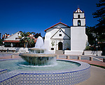 Mission San Buenaventura, the ninth mission founded in 1782, at Ventura, on the Central Coast of California.