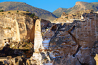 Ruins of the Ayyubids Small Palace in the citadel of ancient Hasankeyf overlooking the Tigris River. Turkey 15