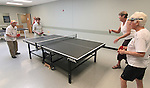 From left, Mildred Swiec, Louisa Vanderlinden, Betty Young and Shirley Lang play ping pong at the Carson City Senior Citizen Center in Carson City, Nev., on Wednesday, Aug. 22, 2012..Photo by Cathleen Allison