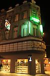 The Opera Hotel at night in Brussels, Belgium