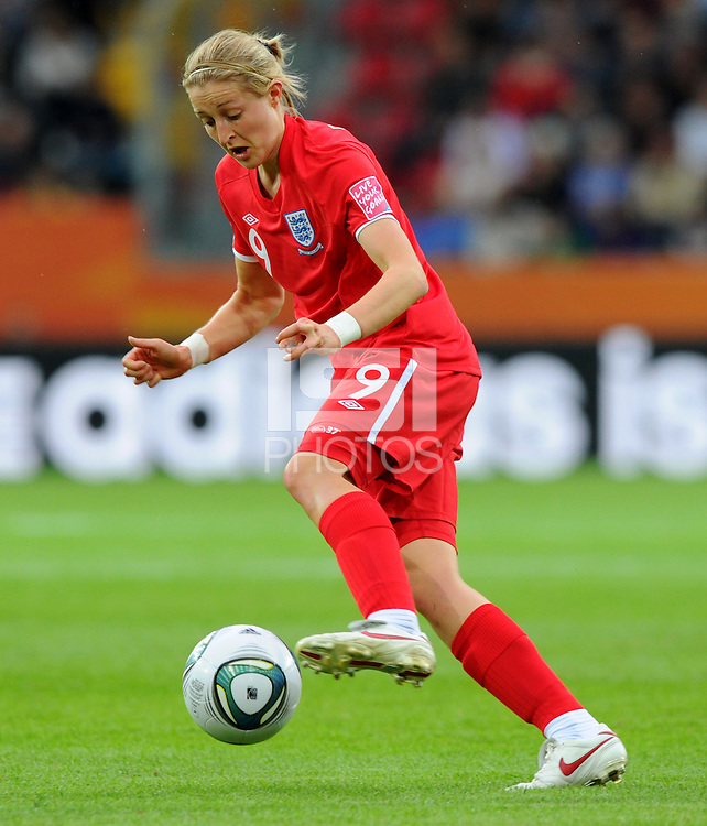 Ellen White of team England during the FIFA Women's World Cup at the FIFA Stadium in Dresden, Germany on July 1st, 2011.