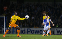 Matty Taylor of Bristol Rovers keeps eyes on the ball during the Johnstone's Paint Trophy match between Bristol Rovers and Wycombe Wanderers at the Memorial Stadium, Bristol, England on 6 October 2015. Photo by Andy Rowland.