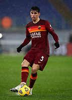 Football, Serie A: AS Roma - Sampdoria calcio, Olympic stadium, Rome, January 3, 2021. <br /> Roma's Roger Ibanez in action during the Italian Serie A football match between Roma and Sampdoria at Rome's Olympic stadium, on January 3, 2021.  <br /> UPDATE IMAGES PRESS/Isabella Bonotto