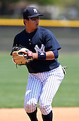 March 31, 2010:  Shortstop Fu-Lin Kuo of the New York Yankees organization during Spring Training at Yankees Training Complex in Tampa, FL.  Photo By Mike Janes/Four Seam Images