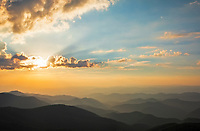 Sunset from the Great Craggy Mountains, Blue Ridge Parkway