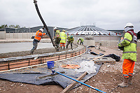 Laying the concrete base of the secondary digester