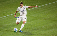 CARSON, CA - MARCH 07: Rolf Feltscher #25 of the Los Angeles Galaxy crosses a ball during a game between Vancouver Whitecaps and Los Angeles Galaxy at Dignity Health Sports Park on March 07, 2020 in Carson, California.