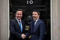 01.04.2014 - The Italian Prime Minister Matteo Renzi at 10 Downing Street