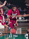 Troy Trojans guard Alan Jones (11) in action during the game between the Troy Trojans and the University of North Texas Mean Green at the North Texas Coliseum,the Super Pit, in Denton, Texas. UNT defeats Troy 87 to 65.....