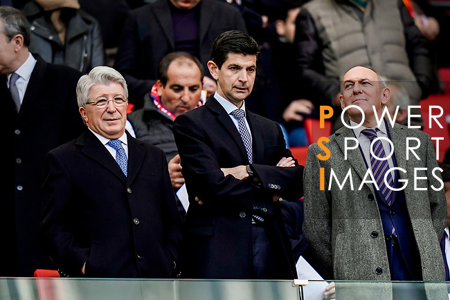 Enrique Cerezo Torres (L), President of Atletico de Madrid, is seen prior to the La Liga 2018-19 match between Atletico de Madrid and Deportivo Alaves at Wanda Metropolitano on December 08 2018 in Madrid, Spain. Photo by Diego Souto / Power Sport Images