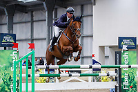 NZL-Bernard Denton rides BSF Sequell. Class 30: Sky Sport Next 1.30m-1.35m 10K - FINAL. 2021 NZL-Easter Jumping Festival presented by McIntosh Global Equestrian and Equestrian Entries. NEC Taupo. Sunday 4 April. Copyright Photo: Libby Law Photography