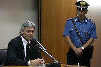 NAPOLI 01/10/2010..UDIENZA PROCESSO CALCIOPOLI ..NELLA FOTO  FRANCO BALDINI ..FOTO PARTENOPRESS INSIDEFOTO..