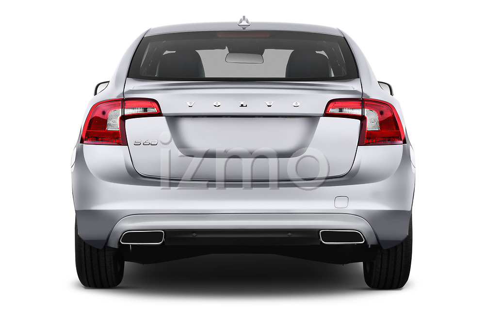 Straight rear view of 2018 Volvo S60 T5 4 Door Sedan Rear View  stock images