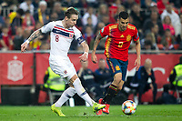 Norway's Stefan Johansen and Spain's Daniel Ceballos  during the qualifying match for Euro 2020 on 23th March, 2019 in Valencia, Spain. (ALTERPHOTOS/Alconada)<br /> Valencia 23-03-2019 <br /> Football Qualifying match Euro2020<br /> Spain Vs Norway <br /> foto Alterphotos/Insidefoto <br /> ITALY ONLY