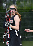 GER - Hannover, Germany, May 30: During the Women Lacrosse Playoffs 2015 match between DHC Hannover (black) and SC Frankfurt 1880 (red) on May 30, 2015 at Deutscher Hockey-Club Hannover e.V. in Hannover, Germany. Final score 23:3. (Photo by Dirk Markgraf / www.265-images.com) *** Local caption *** Ann Britt Petermann #4 of DHC Hannover
