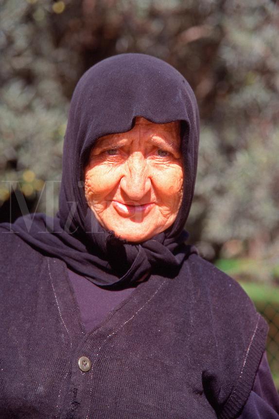 Greece Lefkas A village lady
