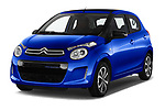 2018 Citroen C1 Airscape Shine 5 Door Hatchback angular front stock photos of front three quarter view