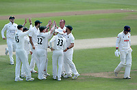 Luke Fletcher of Nottinghamshire celebrates taking the wicket of Michael Pepper during Essex CCC vs Nottinghamshire CCC, LV Insurance County Championship Group 1 Cricket at The Cloudfm County Ground on 5th June 2021