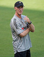 LOS ANGELES, CA - AUGUST 22: LAFC head coach Bob Bradley during a game between Los Angeles Galaxy and Los Angeles FC at Banc of California Stadium on August 22, 2020 in Los Angeles, California.