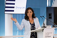 Pictured: Change UK leader Heidi Allen. Monday 13 May 2019<br /> Re: Change UK, European Elections rally in Cardiff, Wales, UK.