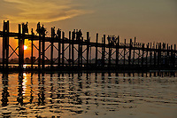 U-Bein Teak wood Bridge in Mandalay
