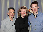 David Greenspan & Lisa Banes & Brian Hutchison.attending the 'Go Back To Where You Are' First Day of Rehearsals at Playwrights Horizons' in New York City.