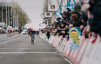 """Did I really held them off!?"" > Ardennes' specialist Bob JUNGELS (LUX/Deceuninck-Quick Step) surprisingly wins the 71th Kuurne-Brussel-Kuurne 2019<br />  <br /> Kuurne to Kuurne (BEL): 201km<br /> <br /> ©kramon"