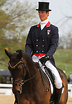 April 24, 2015:  #82 Bay My Hero and William Fox-Pitt finish in 3rd place in Dressage at the Rolex Three Day Event at the Kentucky Horse Park in Lexington, KY.  Candice Chavez/ESW/CSM