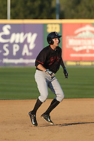 Aaron Barbosa (6) of the Bakersfield Blaze runs the bases during a game against the Rancho Cucamonga Quakes at LoanMart Field on June 1, 2015 in Rancho Cucamonga, California. Rancho Cucamonga defeated Bakersfield, 5-2. (Larry Goren/Four Seam Images)