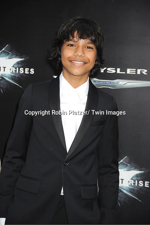 """Tyler Dean Flores attends the world premiere of """"The Dark Knight Rises"""" on .July 16, 2012 at The AMC Lincoln Square Imax Theatre in New York City. The movie stars Christian Bale, Gary Oldman, Anne Hathaway, Tom Hardy, Marion Cotillard, Joseph Gordon-Levitt and Morgan Freeman."""