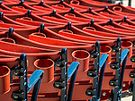 Spectator seats at Fenway Park, home of the Boston Red Sox, Boston, Massachusetts, USA