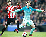 Athletic de Bilbao's Enric Saborit (l) and FC Barcelona's Ivan Rakitic during Spanish Kings Cup match. January 05,2017. (ALTERPHOTOS/Acero)