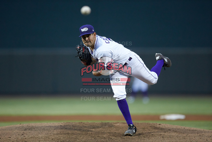 Winston-Salem Dash starting pitcher Cristian Castillo (29) delivers a pitch to the plate against the Lynchburg Hillcats at BB&T Ballpark on May 9, 2019 in Winston-Salem, North Carolina. The Dash defeated the Hillcats 4-1. (Brian Westerholt/Four Seam Images)