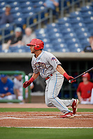 Clearwater Threshers third baseman Jake Scheiner (7) during a Florida State League game against the Dunedin Blue Jays on April 4, 2019 at Spectrum Field in Clearwater, Florida.  Dunedin defeated Clearwater 11-1.  (Mike Janes/Four Seam Images)